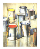Paint Cans (No text) Reproduction d'art par Wayne Thiebaud