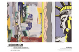 Painting with Statue of Liberty Reproduction d'art par Roy Lichtenstein