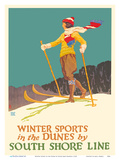 Winter Sports in the Dunes - South Shore Line - Chicago  Lake Shore & South Bend Railroad