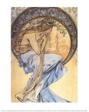 Poésie Reproduction d'art par Alphonse Mucha