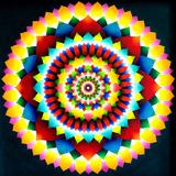 Psychedelic Mandala, 1969 Tableau sur toile par Larry Smart