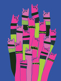 Rock and Roll Hands Cartoon Vector