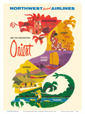 See the Enchanting Orient - Northwest Orient Airlines