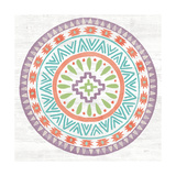 Lovely Llamas Mandala II Reproduction d'art par Mary Urban