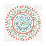 Lovely Llamas Mandala I Reproduction d'art par Mary Urban