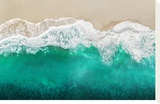 Teal Ocean Waves From Above I