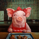 Gingerbread Pigs Reproduction d'art par Lucia Heffernan