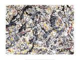 Silver Over Black, White, Yellow & Red Reproduction d'art par Jackson Pollock