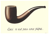 La Trahison des Images (Mini With Border) Reproduction d'art par Rene Magritte