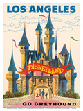 Los Angeles  USA - Disneyland - Go Greyhound (Greyhound Bus Lines) California
