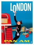 London  England - Double Decker Bus - Pan American World Airways