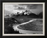 Les Tetons et la rivière Serpent, 1942 Reproduction encadrée par Ansel Adams