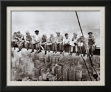 Déjeuner au sommet d'un gratte-ciel, 1932 Reproduction encadrée par Charles C. Ebbets