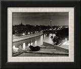 Paris, Cats at Night Reproduction encadrée par Robert Doisneau