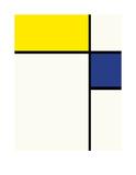 Composition avec bleu et jaune  1932