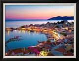 Greek Harbour at Dusk  Samos  Aegean Islands