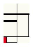 Composition avec rouge   noir et blanc  1931