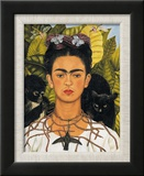 Self-Portrait with Thorn Necklace and Hummingbird  c1940