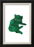 """Cat From """"25 Cats Named Sam and One Blue Pussy""""   c 1954 (Green Cat)"""