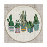 Embroidery Succulents  Cactus and Pots Cactus Wall Art Embroidery Home Decor Cacti Succulents