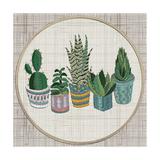 Embroidery Succulents, Cactus and Pots. Cactus Wall Art Embroidery Home Decor Cacti Succulents. Reproduction d'art par ImHope