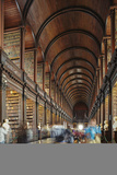The Long Room in the library of Trinity College  Dublin  Republic of Ireland  Europe