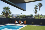 A mid-century modern house in a Phoenix subdivision