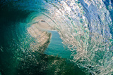Morning Mirror-Liquid blue glass transforms into a crystal clear hollow wave