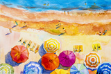 Seascape Top View Colorful of Lovers