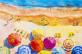 Seascape Top View Colorful of Lovers Reproduction d'art par Painterstock