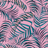 Watercolor Palm Leaves Reproduction d'art par Anastasianio
