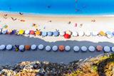 Aerial View of Porto Katsiki Beach, with People Enjoying Summer Holiday Papier Photo par Cristian Balate Photography