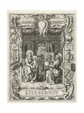 Coat of arms of the Guild of Saint Luke with Saint Luke painting Madonna and Child  1620-21