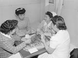 Nurses Aiko Hamaguchi  Chiye Yamanaki  Catherine Yamaguchi  and Kazoko Nagahama playing bridge