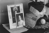 Personal mementoes including autographed photograph at Manzanar Relocation Center  1943