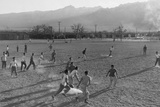 Football game at Manzanar Relocation Center  1943