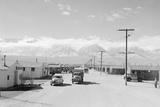 Manzanar street scene  spring  Manzanar Relocation Center  1943