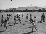 Volleyball at Manzanar Relocation Center  1943