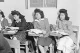 High school biology class  Manzanar Relocation Center  1943