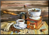 Coffee Still Life Reproduction montée par Yurchak Alevtina