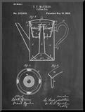 Vintage Coffee Pot Patent Reproduction montée