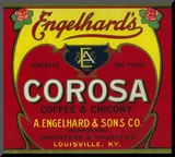 Engelhard's Coffee Label - Louisville, KY Reproduction montée par Lantern Press