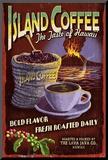 Island Coffee - Vintage Sign Reproduction montée par Lantern Press