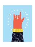 Raised Up Rock Gesture