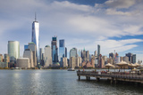 USA, New Jersey, Jersey City, Lower Manhattan from Jersey City Papier Photo par Walter Bibikow