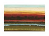 Skyline Symmetry II - Stripes, Layers Giclée premium par Jeni Lee