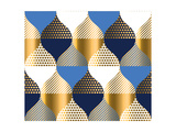 Navy Blue and Gold Luxury Geometry Pattern Seamless Pattern Vector Illustration for Background  Fa
