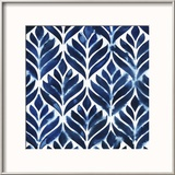 Cobalt Watercolor Tiles IV
