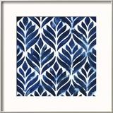 Cobalt Watercolor Tiles IV Reproduction encadrée par Grace Popp