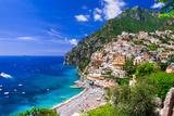 Beautiful Coastal Towns of Italy - Scenic Positano in Amalfi Coast Papier Photo par Maugli-l